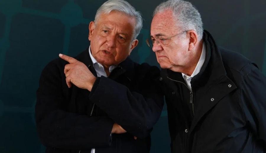 AMLO recibe en Palacio Nacional al titular de la SCT, Javier Jiménez Espriú