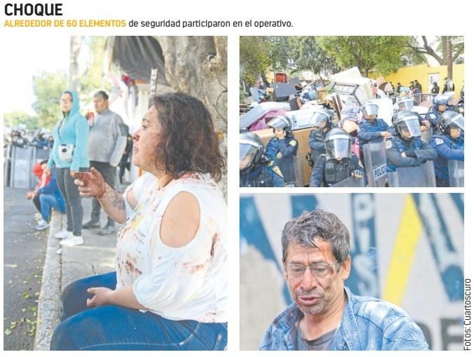 Desalojo en Á. Obregón termina en enfrentamiento