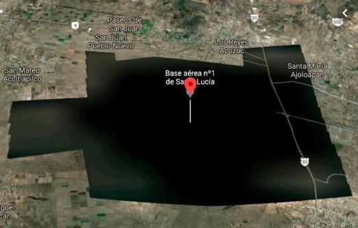 Reaparece la base aérea en la plataforma de Google Maps