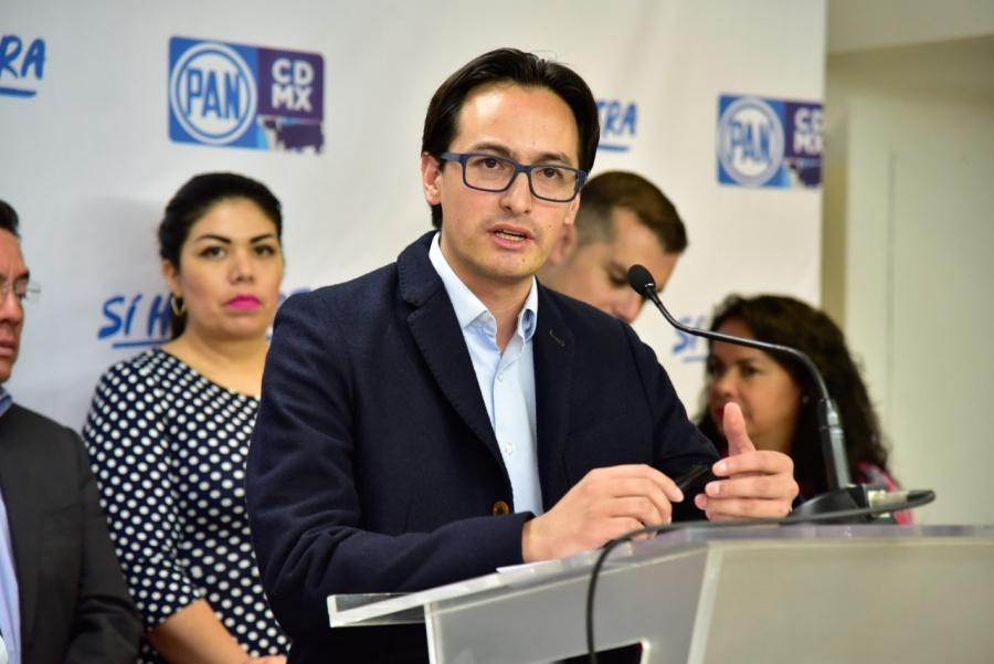 Posicionamiento del Presidente del PAN CDMX, Andrés Atayde y el Diputado Federal, Luis Mendoza, sobre la llamada Ley Godoy