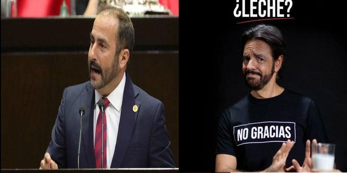 Exige diputado a Eugenio Derbez se retracte de sus dichos sobre la leche