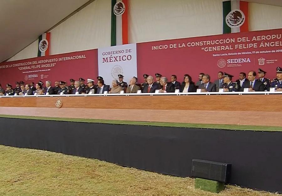 En vivo: AMLO encabeza el inicio de la Construcción del Aeropuerto en Santa Lucía