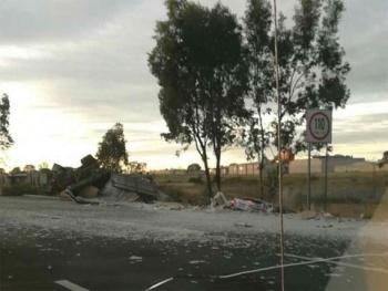Accidente en la carretera México-Querétaro deja nueve personas muertas