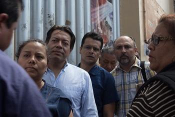 Denuncia Mario Delgado la cancelación de la Asamblea en Iztacalco