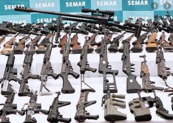 Sedena decomisa solo 2% de armamento