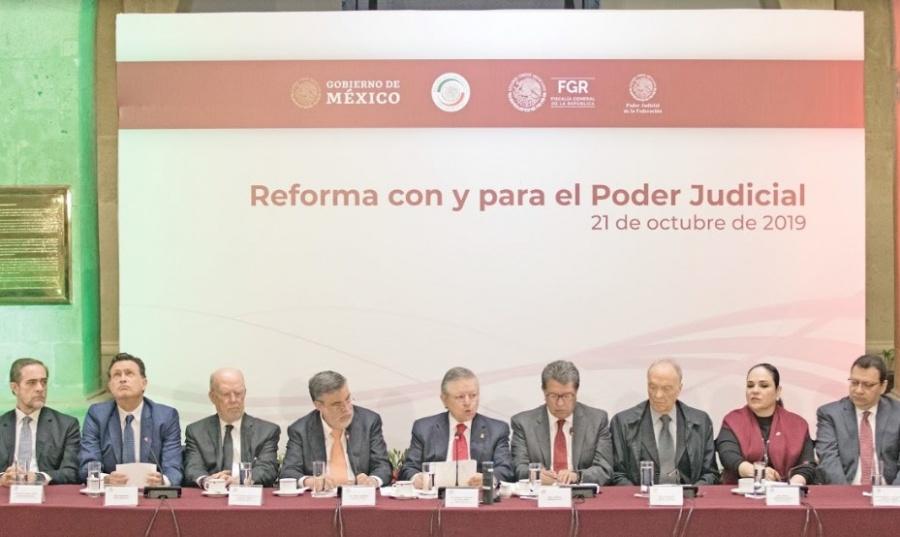Reformar Poder Judicial, meta de ministros, legisladores...