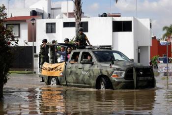 Aplica Sedena Plan DN-III por lluvias en Aldama, Tamaulipas