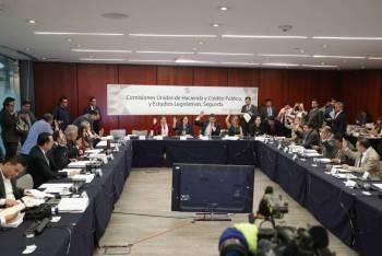 Aprueban comisiones del Senado Ley de Ingresos y miscelánea fiscal