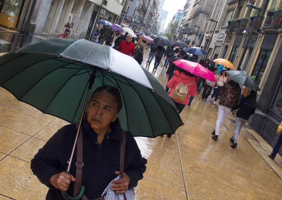 Reportan lluvia en nueve alcaldías de la CDMX