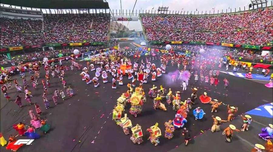 Gran ceremonia inaugural para el Gran Premio F1 de México