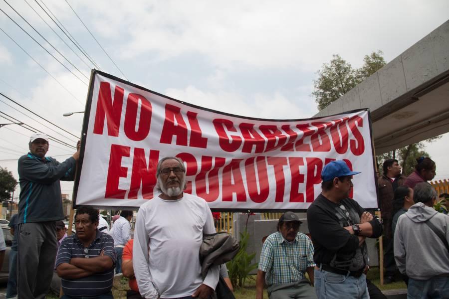 Por oneroso vecinos de Cuautepec rechazan la construcción del Cablebús