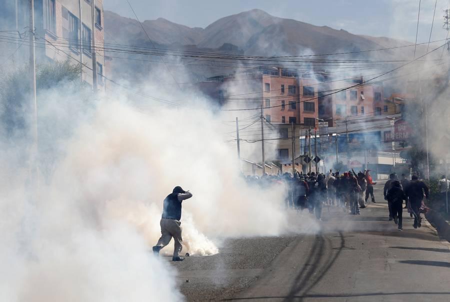 Persisten las protestas en Bolivia
