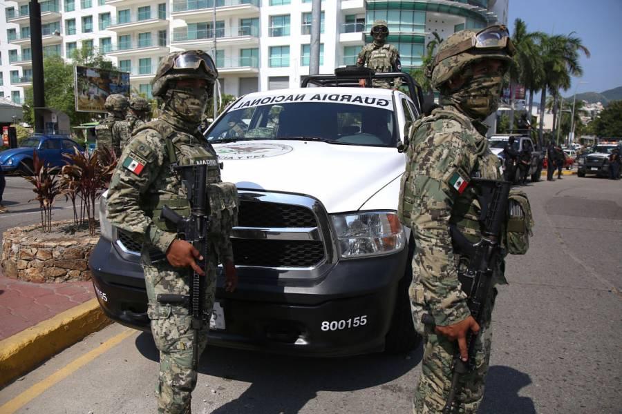 Incauta Guardia Nacional material explosivo en Puebla; hay 13 detenidos