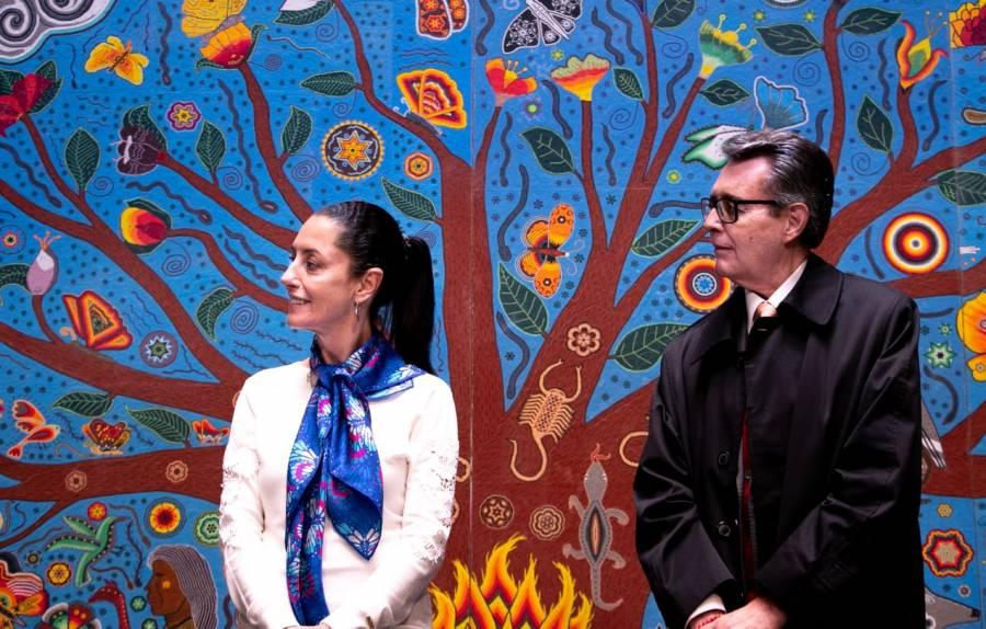 Inaugura Sheinbaum obra que busca impulsar la cultura wixárica