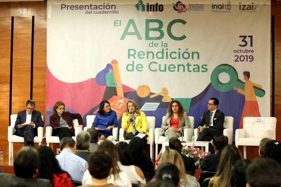 """Presentan cuadernillo """"El ABC de la Rendición de Cuentas"""""""