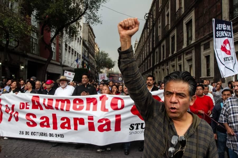 Acuerda UNAM aumento de 3.4% a trabajadores del STUNAM