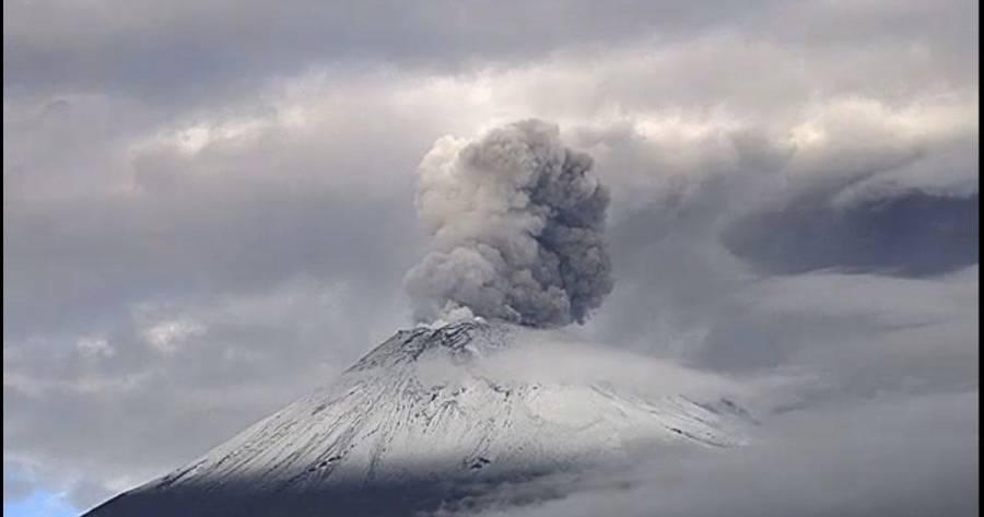 Afecta caída de ceniza del Popocatépetl a tres alcaldías