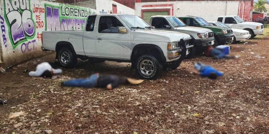 Cuatro muertos y un herido grave, por balacera en tianguis de autos en Uruapan, Michoacán
