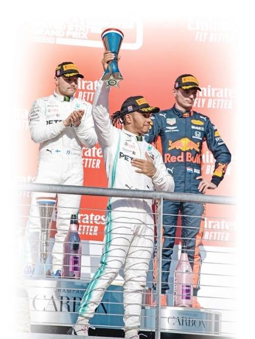 Hamilton gana sexto título de F1 y le pisa los talones a Schumacher