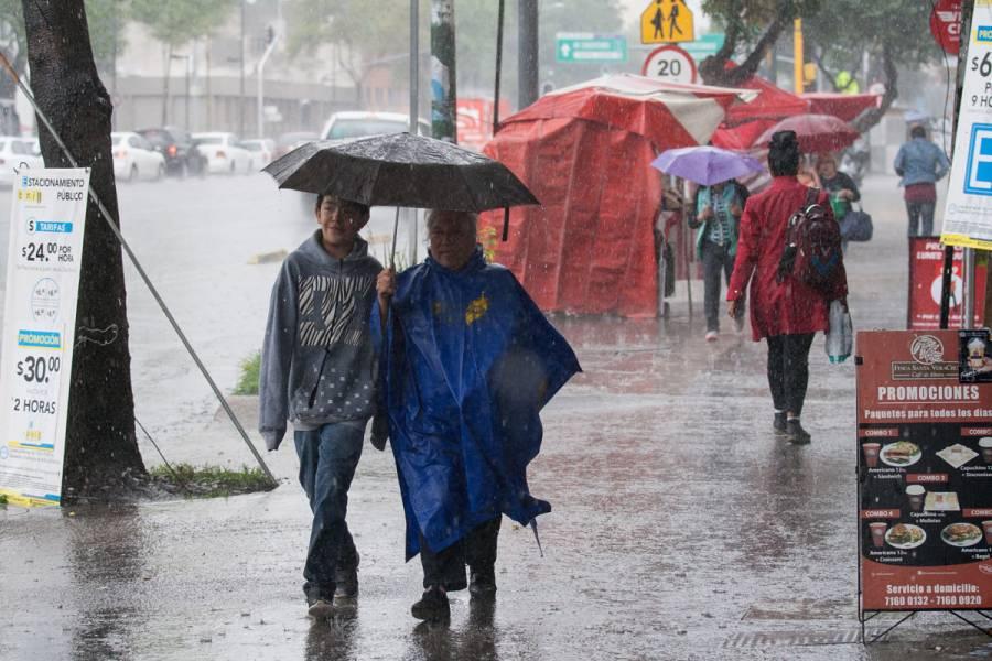 Persistirán las lluvias y chubascos en el Valle de México