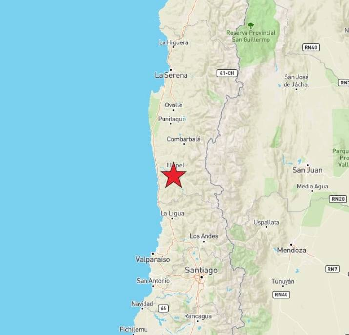 Sismo sacude el centro de Chile