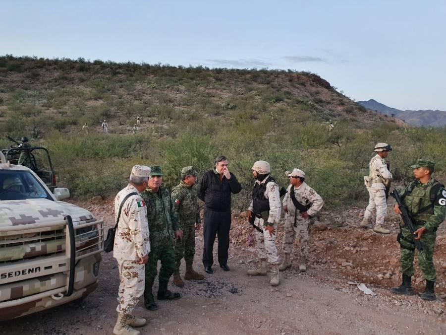 Autoridades el Gobierno de México recorren Bavispe, Sonora