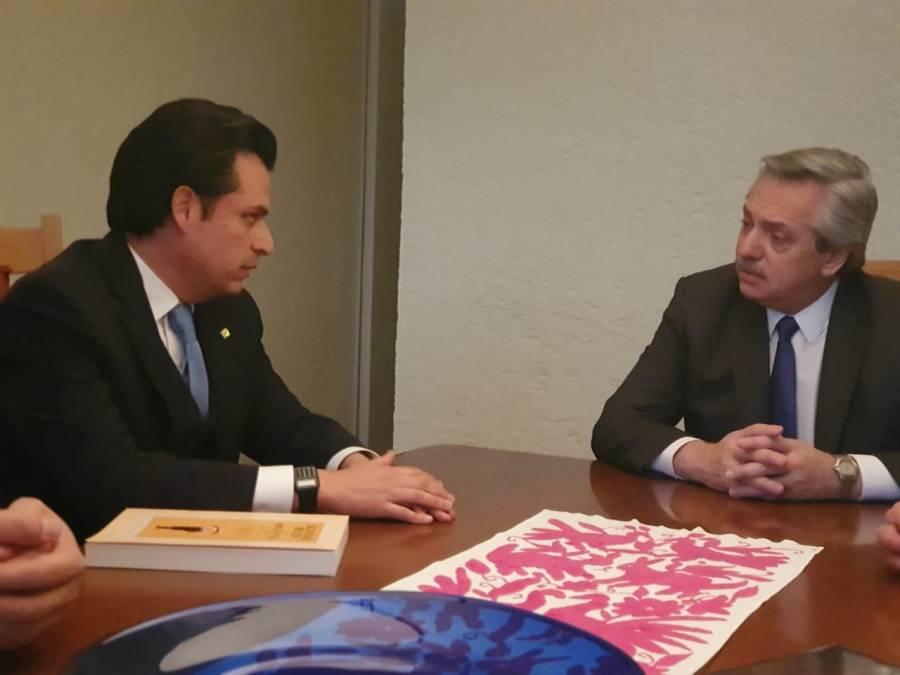 Zoé Robledo y Alberto Fernández se reúnen en la Ciudad de México