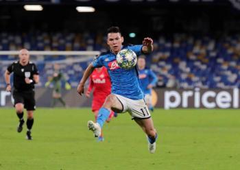 Chucky Lozano anota y se estrena con el Napoli en Champions