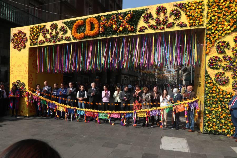 Inauguran Festival de las Flores en el Centro Histórico