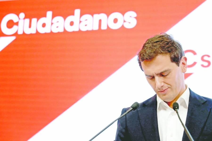Tras perder 47 escaños,  líder de Ciudadanos dimite
