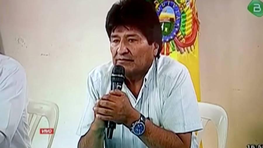Asamblea recibe carta de renuncia de Evo Morales