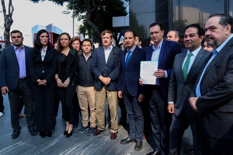Presentan Marko Cortés y Mauricio Kuri denuncia por espionaje
