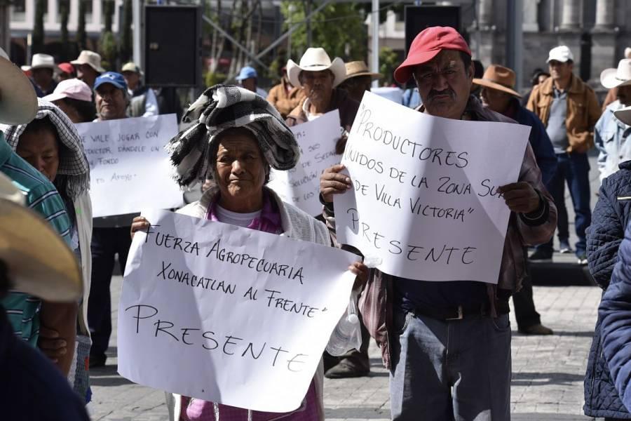 Campesinos protestan en San Lázaro; exigen mayor presupuesto