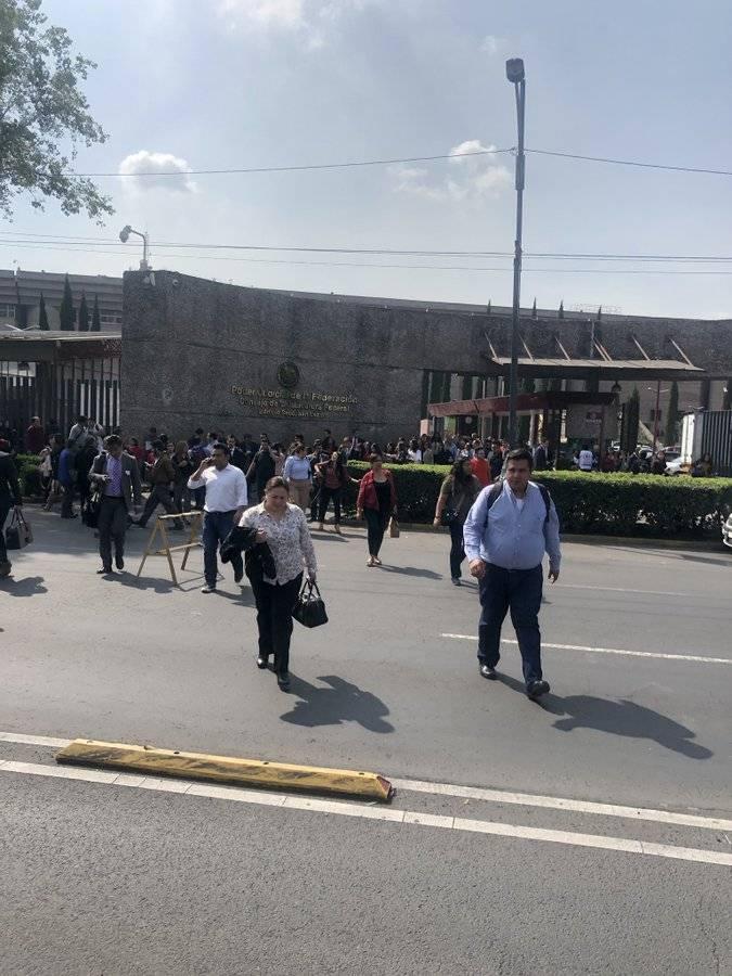 Reportan presunta amenaza de bomba en el Poder Judicial de la Federación