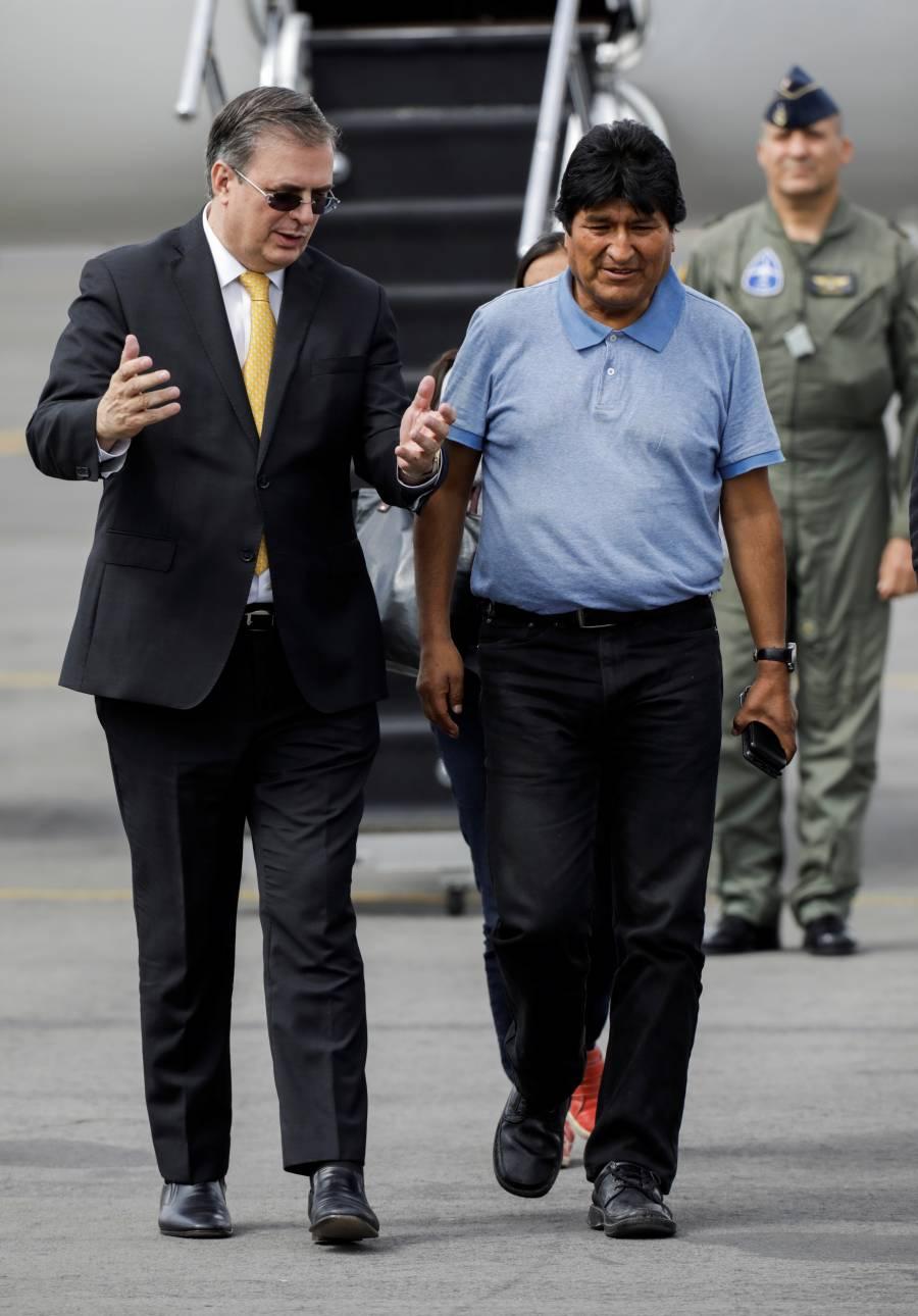 En México, Evo Morales gozará de protección a su vida: Ebrard