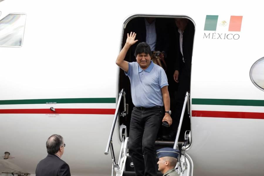 VIDEO: Me salvaron la vida, dice Evo Morales a su llegada a México