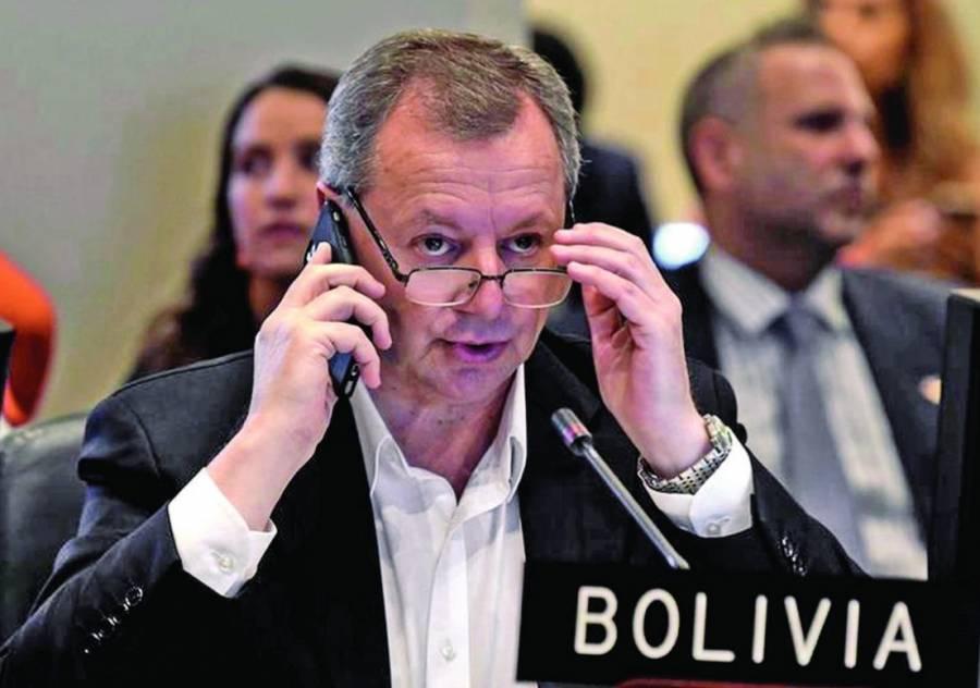 Embajador de Bolivia en la OEA presenta su renuncia