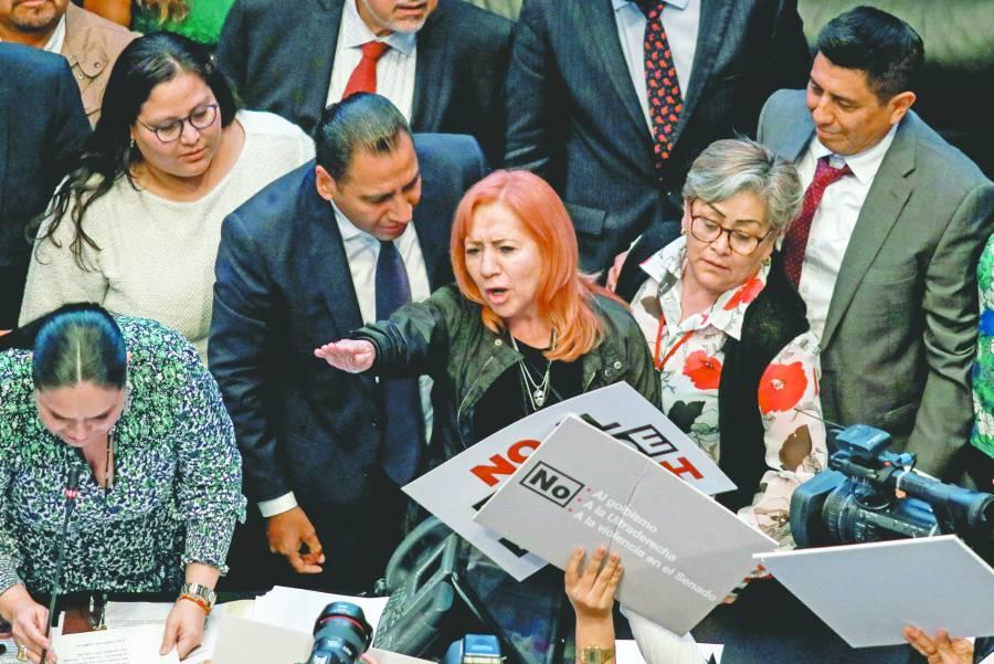 Van PAN, PRI y PRD a instancias judiciales contra designación de Rosario Piedra