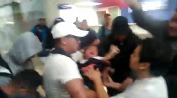 Bebé lesionado por policías durante protesta