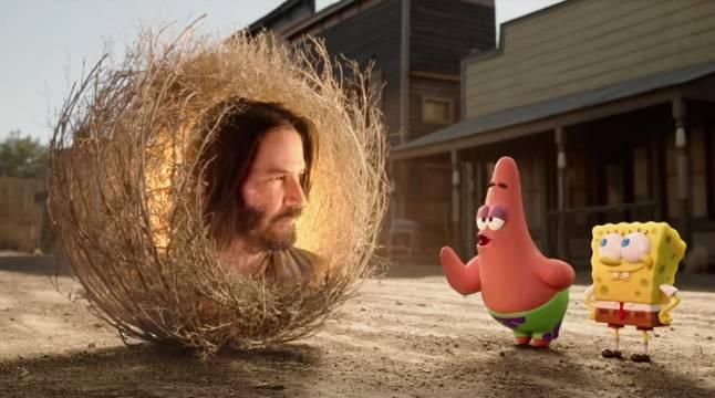 Llega nuevo tráiler de Bob Esponja con Keanu Reeves