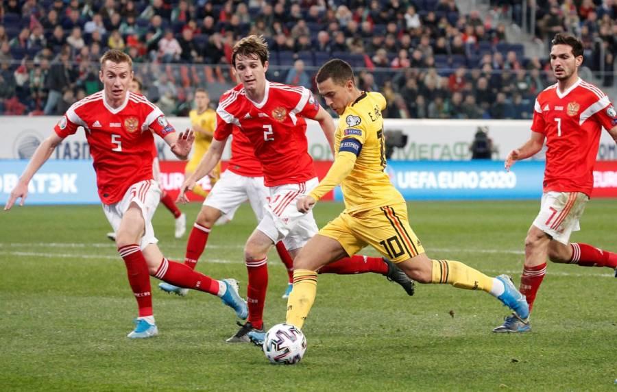 Bélgica golea a Rusia en eliminatoria a Euro 2020