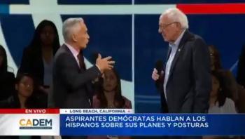 Polémica por acalorada discusión entre Bernie Sanders y Jorge Ramos por Evo Morales