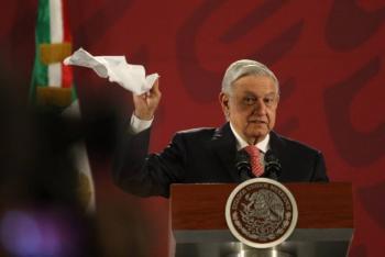 """Asegura López Obrador que ya se acabó el """"bandidaje oficial"""""""