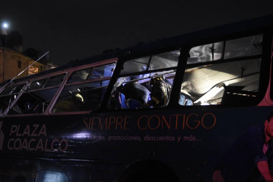 Capturan a un chofer responsable de choque en la México-Pachuca