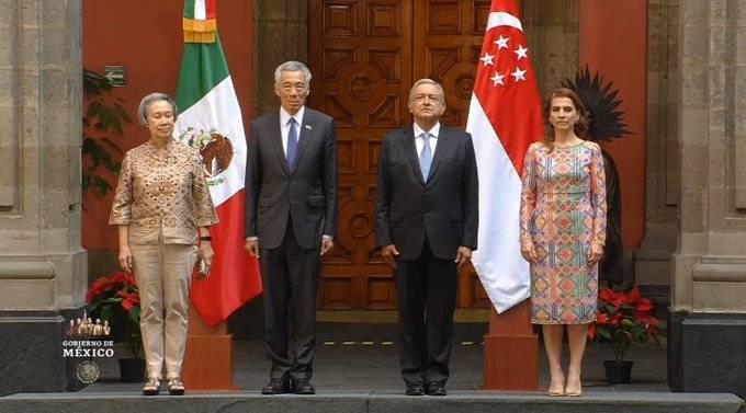 El Presidente López Obrador recibe al Primer Ministro de Singapur, Lee Hsien Loong