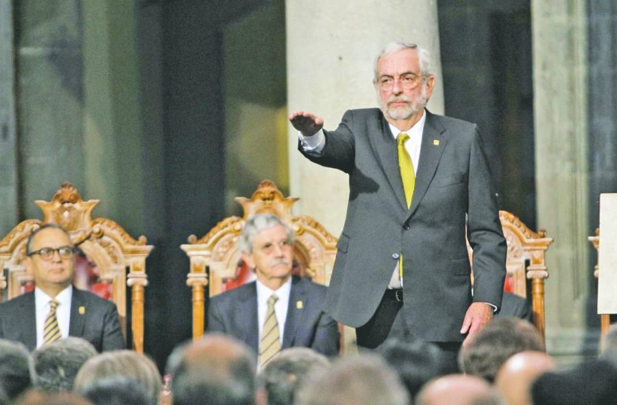 Promete EnriqueGrauecombatir violencia y el acoso en la UNAM