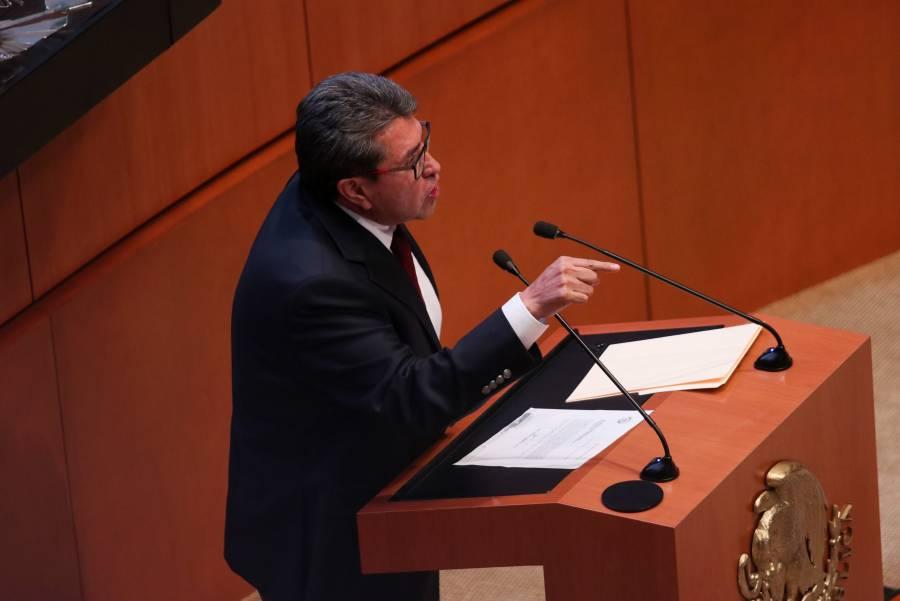 Monreal critica la postura del PAN hacia Rosario Piedra; señala desacato