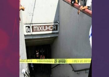 Fallece un individuo en las escaleras del Metro Mixiuhca