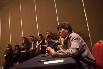 Señala Evo Morales que es Presidente electo de Bolivia
