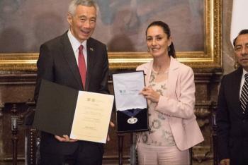 Primer ministro de Singapur, nombrado Huésped Distinguido de la CDMX